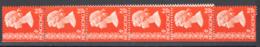 Hong Kong 1973 Y.T.266A Strip Of 11 From ATM **/MNH VF - Hong Kong (...-1997)