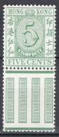 Hong Kong 1938 Fiscali Y.T.15 **/MNH VF - Hong Kong (...-1997)