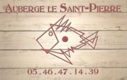 Carte De Visite - Auberge Le Saint-Pierre - Saint-Pierre D'Oleron - [restaurant] - Visitekaartjes