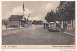 Carte Postale Douanes  Douaniers Frontière Franco Espagnole à Hendaye Trés Beau Plan - Dogana
