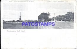 123803 PERU LIMA PLAZA Y MONUMENTO DOS DE MAYO & CALLAO PLAZA Y MONUMENTO MULTI VIEW SPOTTED POSTAL POSTCARD - Perù
