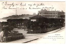 64 PYRENEES Atlantiques Ruines Du Palais Détruit Par Le Feu Le 2 Février 1903 à BIARRITZ Carte Précurseur - Biarritz