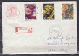 Aangetekende Brief Van Vladslo (sterstempel) Naar Itegem - Belgique
