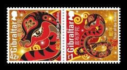 Gibraltar 2013 Mih. 1524/25 Lunar New Year. Year Of Snake MNH ** - Gibilterra