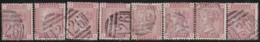 Great Britain    .   Yvert      .   68  8x  (1880-81)     .    O     .  Cancelled    .   /   .   Gebruikt - 1840-1901 (Victoria)
