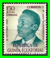 GUINEA ECUATORIAL SELLO AÑO 1960 PRESIDENTE FRANCISCO MESIAS VALOR 1.50 PESETAS - Guinea Ecuatorial