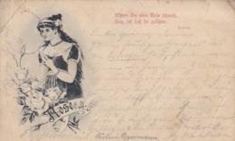 AK  Wenn Du Eine Rose Schaust... - Heine - Künstlerkarte - 1898 (45091) - Blumen