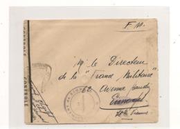 FRANCE 1940  ENVELOPPE  F.M. AVEC CACHET POSTE AUX ARMÉES POUR LIMOGES ET CONTRÔLE MILITAIRE - Marcofilie (Brieven)