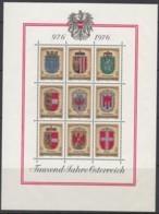 ÖSTERREICH  Block 4, Postfrisch **, 1000 Jahre Österreich 1976 - Blocks & Kleinbögen