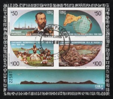 1988 9. Sept. Osterinseln Mi CL BL9  Sn CL 794a Sg CL MS1185 Gestempelt O - Chile