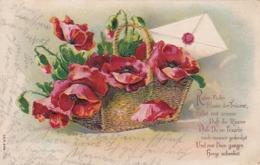 AK  Roter Mohn - Künstlerkarte - Reliefdruck - Wronke 1910  (45093) - Blumen