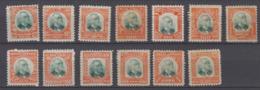 Brazil Brasil Official Oficiais Mi# 1-13 * Mint Pena 1906 - Dienstzegels