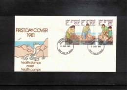 New Zealand 1981 Health Stamps FDC - FDC