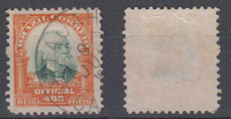 Brazil Brasil Official Oficiais Mi# 7 Used Pena 1906 400R Nice Postmark ITAUAHY - Dienstpost