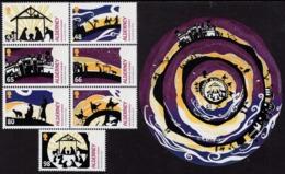 Alderney - 2019 - Christmas - Mint Stamp Set + Souvenir Sheet - Alderney