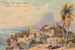 AK Rio De Janeiro - Blick Auf Santa Gloria - Cacao- Und Chocoladen-Fabrik Joh. Gottl. Hauswaldt, Magdeburg (45095) - Rio De Janeiro