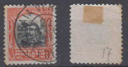 Brazil Brasil Official Oficiais Mi# 17 Used Fonseca 1913 100R PRAIA VERMELHA Postmark - Dienstzegels