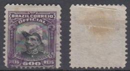 Brazil Brasil Official Oficiais Mi# 20 Used Fonseca 1913 600R Violett Postmark - Dienstpost