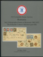 2018 Corinphila Auction Catalogue + Prices Realised. Romania 1865 - 1872 Eduardo Cohen Collection (part 3) - Cataloghi Di Case D'aste