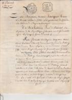 18 Prairial An 7 -Bayeux Balleroy - Actes De Ventes De La  Marquise De Balleroy Au Sieur Pierre Pottier - Cachets Généralité