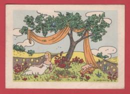"""Carte Postale""""Croix Rouge Francaise Imagerie Pellerin EPINAL""""Eté""""Huguette Jacquemin""""avec Les Voeux""""mirabelles""""les Foins"""" - Croce Rossa"""