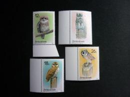 Zimbabwe, 1987 Indigenous Owls Scott #542-545 MNH Cv. 16,50$ - Zimbabwe (1980-...)