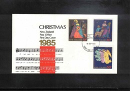 New Zealand 1985 Christmas FDC - FDC