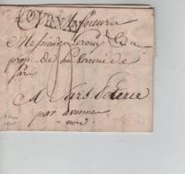 CBPN70/ Précurseur LAC écrit De Tournai Grande Griffe Tournay > France - 1814-1815 (Governo Generale Del Belgio)