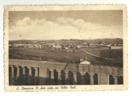 """5928 """" S. DAMIANO D'ASTI VISTO DA VILLA NELI """"-CART. POST. ORIG. SPED.1957 - Asti"""