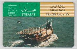 UAE 1991 MOTORIZED DHOW ETISALAT - Emirati Arabi Uniti
