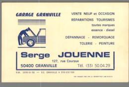 Carte De Visite - 50 - Granville - Garage Granville - Serge Jouenne - Visitekaartjes