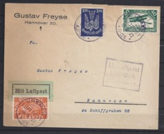 Germany Brief Bremen 1922-LUFTPOST/AIRMAIL-to Hannover-High Catalog Value-LP111+112+217-Planes-Aviation - Germany