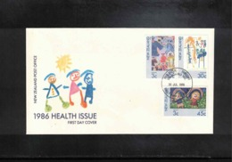 New Zealand 1986 Health Issue FDC - FDC