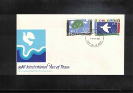 New Zealand 1986 Year Of Peace FDC - FDC