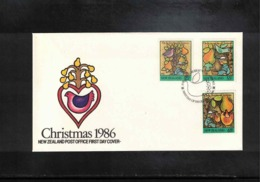 New Zealand 1986 Christmas FDC - FDC
