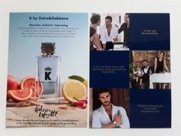 "DOLCE ET GABBANA ""  K  ""  Photo R/V  Format Carte Postale  ! - Perfume Cards"