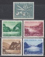 SCHWEIZ  627-631, Postfrisch **,  Pro Patria 1956, Seen Und Wassserläufe - Pro Patria