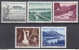 SCHWEIZ   597-601, Postfrisch **, Pro Patria 1954 - Pro Patria
