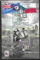 CZECHIA,  CZECH REPUBLIC, 2019, MNH, WWII, PLANES, FIGHTERS, CZECH PILOTS IN THE RAF, SHEETLET - Guerre Mondiale (Seconde)
