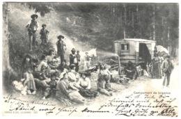 Lausanne Morges CAMPEMENT DE TZIGANES TRÈS ANIMÉE Zigeuner Gypsies 1903 Pelt Défaut En Bas à Droite - BE Berne