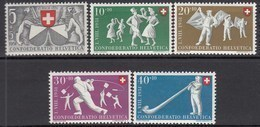 SCHWEIZ  555-559, Postfrisch **, Pro Patria: Volksspiele 1951 - Pro Patria