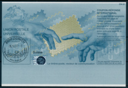 SUISSE / ZURICH   -   26.10.07  ,  Be32  ,  20070322  ,   Reply Coupon Reponse - Stamped Stationery