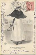AMFREVILLE (Calvados)  Superbe Cachet Perlé Boîtier 1C Sur Carte Postale - 1877-1920: Periodo Semi Moderno