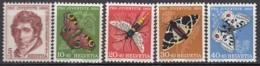 SCHWEIZ  618-622,  Postfrisch **, Pro Juventute 1955, Insekten - Pro Juventute