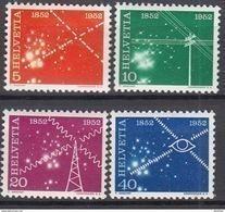 SCHWEIZ  566-569, Postfrisch **, 100 Jahre Schweizer Nachrichtenwesen 1952 - Unused Stamps
