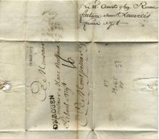 1759 Lettre Rouen à Montpellier - Marcophilie (Lettres)