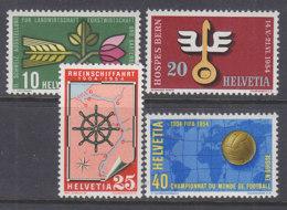 SCHWEIZ 593-596, Postfrisch **, Jahresereignisse 1954 - Unused Stamps