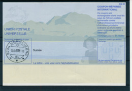 SUISSE / HERRLISBERG  -   10.10.03  ,  Be31  ,  20020625  ,   Reply Coupon Reponse - Stamped Stationery