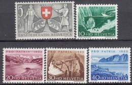 SCHWEIZ  580-584,  Postfrisch **, Pro Patria 1953, Seen Und Wasserläufe - Pro Patria