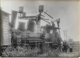 Locomotive P-O FORQUENOT 030-961  Accidentée, Lot De 3 Photos 165X120 (à Situer) - Equipment
